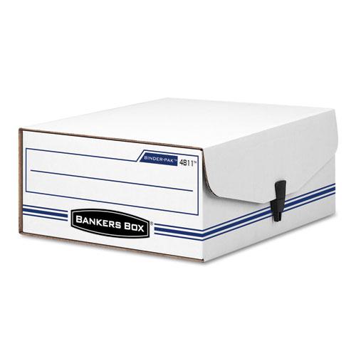 "LIBERTY BINDER-PAK, Letter Files, 9.13"" x 11.38"" x 4.38"", White/Blue. Picture 1"