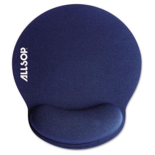 MousePad Pro Memory Foam Mouse Pad with Wrist Rest, 9 x 10 x 1, Blue. Picture 1