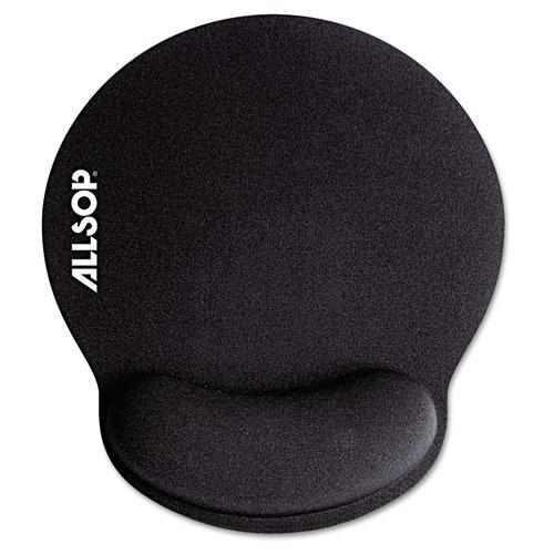 MousePad Pro Memory Foam Mouse Pad with Wrist Rest, 9 x 10 x 1, Black. Picture 1