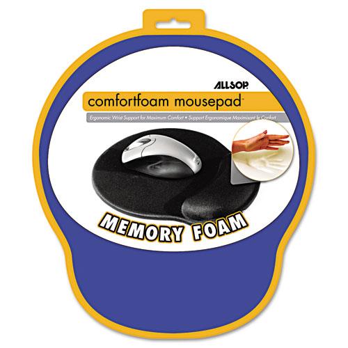 MousePad Pro Memory Foam Mouse Pad with Wrist Rest, 9 x 10 x 1, Blue. Picture 2