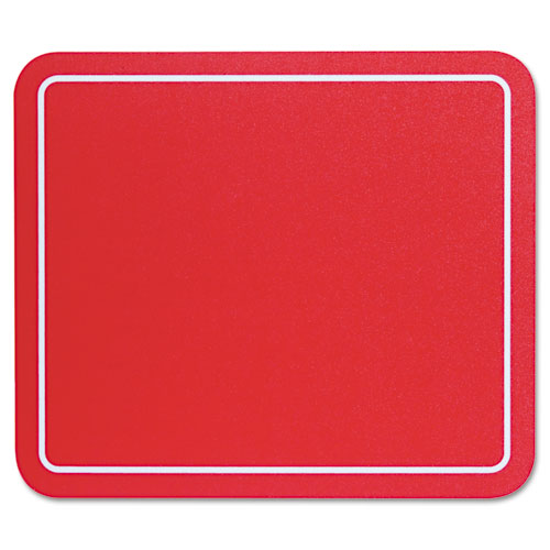 Optical Mouse Pad, 9 x 7-3/4 x 1/8, Red. Picture 2