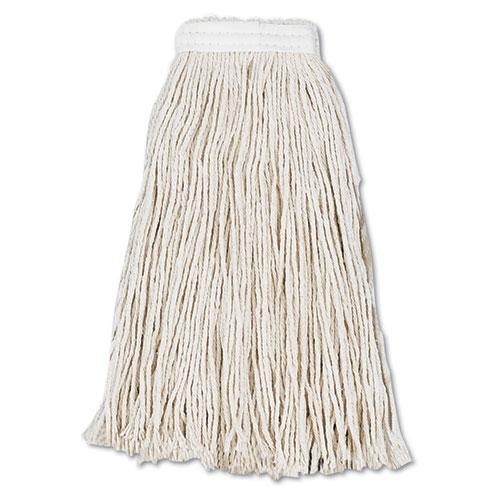 Cut-End Wet Mop Head, Cotton, #16, White, 12/Carton. Picture 1
