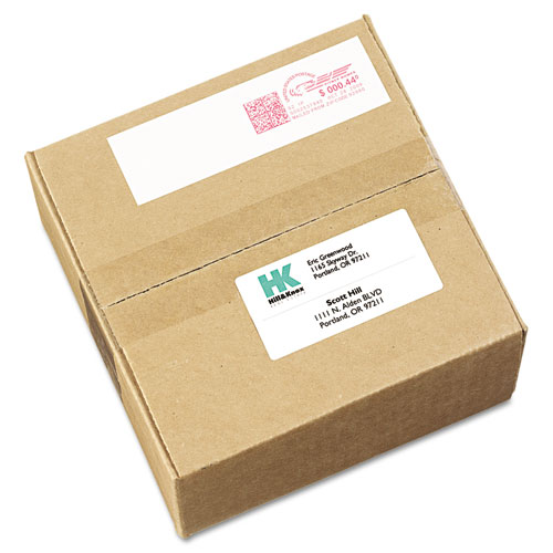 Postage Meter Labels For Pitney-Bowes Postage Machines, 1.5 x 2.75, White, 4/Sheet, 40 Sheets/Pack, (5288). Picture 1