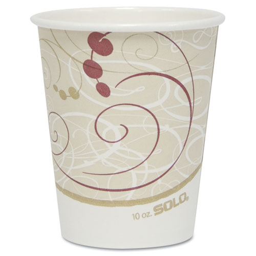 Hot Cups, Symphony Design, 10oz, 50/Pack. Picture 1