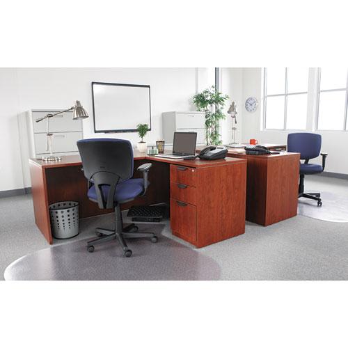 "Alera Valencia Series Straight Front Desk Shell, 65"" x 29.5"" x 29.63"", Medium Cherry. Picture 15"