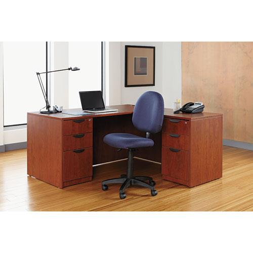 "Alera Valencia Series Straight Front Desk Shell, 65"" x 29.5"" x 29.63"", Medium Cherry. Picture 17"