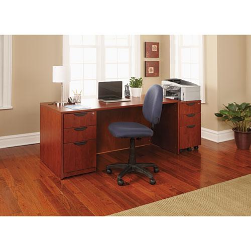 "Alera Valencia Series Straight Front Desk Shell, 65"" x 29.5"" x 29.63"", Medium Cherry. Picture 16"