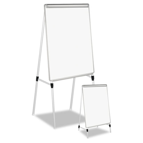 """Dry Erase Easel Board, Easel Height: 42"""" to 67"""", Board: 29"""" x 41"""", White/Silver. Picture 1"""