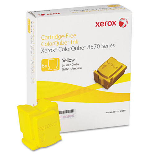 108R00952 Solid Ink Stick, 17,300 Page-Yield, Yellow, 6/Box. Picture 1