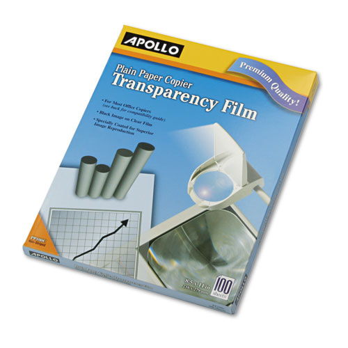 Plain Paper B/W Transparency Film, Letter, Clear, 100/Box. Picture 1