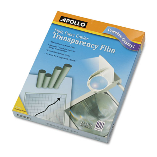 Plain Paper B/W Laser Transparency Film w/Handling Strip, Letter, Clear, 100/Box. Picture 2