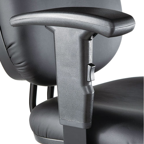 """Alera Interval Series Swivel Task Stool, 33.26"""" Seat Height, Supports up to 275 lbs, Black Seat/Black Back, Black Base. Picture 12"""