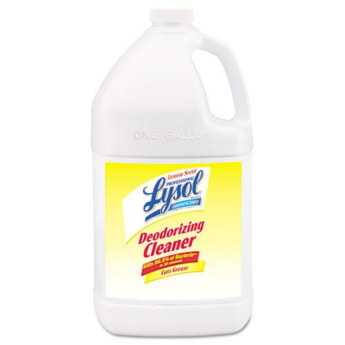 Disinfectant Deodorizing Cleaner Concentrate, 1 gal Bottle, Lemon, 4/Carton. Picture 1