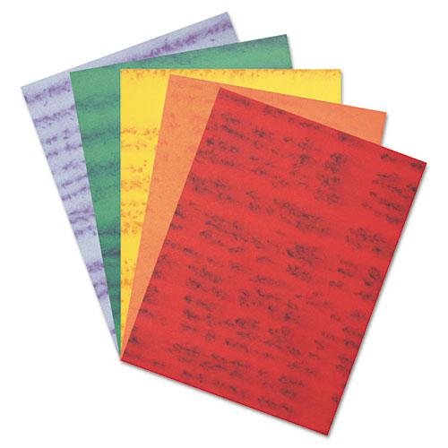 Marble Construction Paper, 76 lb, 9 x 12, Assorted Colors, 50/Pack. Picture 2