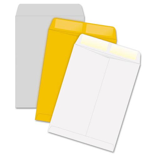 Catalog Envelope, #10 1/2, Square Flap, Gummed Closure, 9 x 12, White, 100/Box. Picture 2