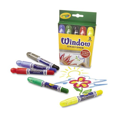 Washable Window Crayons, 5/Set. Picture 1