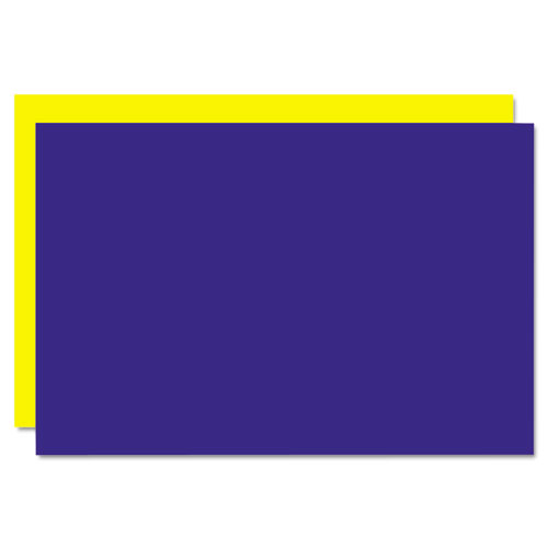 Too Cool Foam Board, 20x30, Blue/Yellow, 5/Carton. Picture 1
