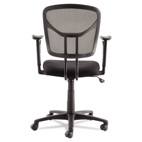Swivel/Tilt Mesh Task Chair with Adjustable Arms, Supports up to 250 lbs., Black Seat/Black Back, Black Base. Picture 6
