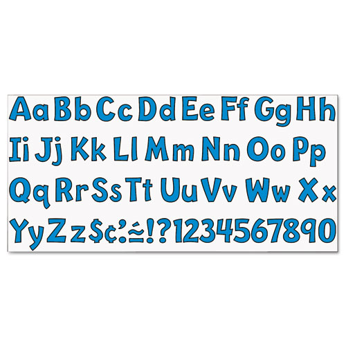 """Ready Letters Playful Combo Set, Blue, 4""""h, 216/Set. Picture 4"""