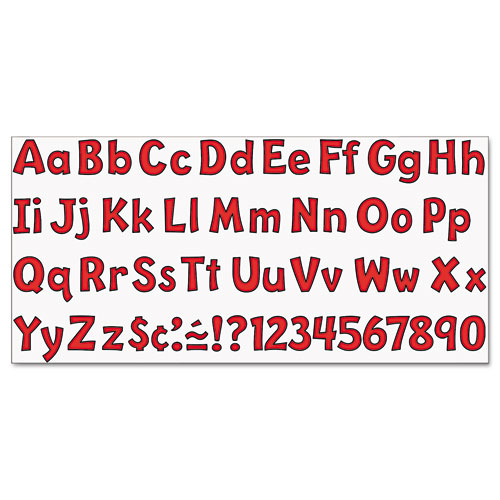 """Ready Letters Playful Combo Set, Red, 4""""h, 216/Set. Picture 4"""