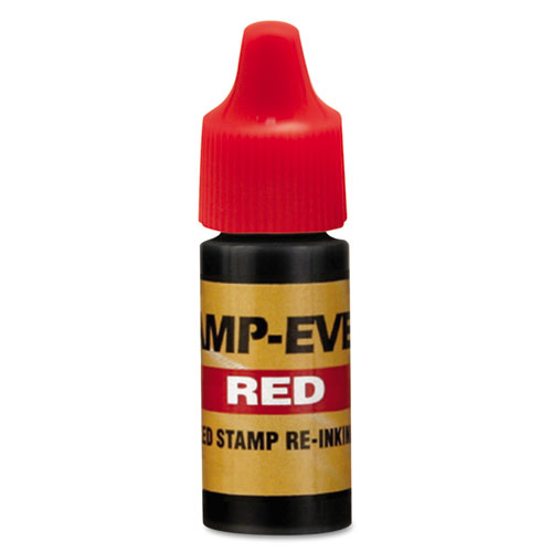 Refill Ink for Clik! and Universal Stamps, 7 mL-Bottle, Red. Picture 1