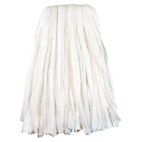 Nonwoven Cut End Edge Mop, Rayon/Polyester, #24, White, 12/Carton. Picture 1