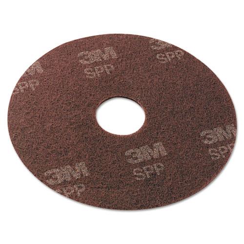 "Surface Preparation Pad, 20"" Diameter, Maroon, 10/Carton. Picture 1"