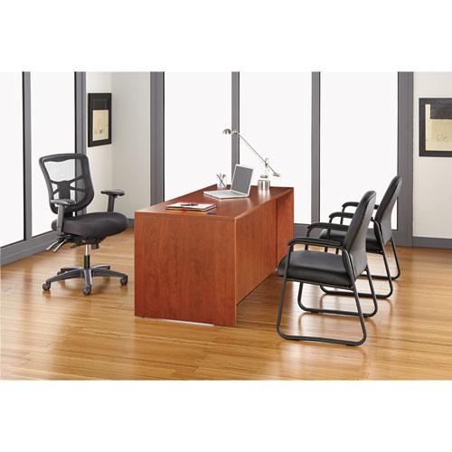 "Alera Genaro High-Back Guest Chair, 24.60"" x 24.80"" x 36.61"", Black Seat/Black Back, Black Base. Picture 6"