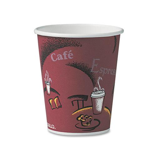 Solo Bistro Design Hot Drink Cups, Paper, 10oz, 50/Pack. Picture 1