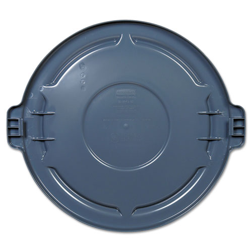 Vented Round BRUTE Lid, 24.5 dia x 1.5h, Gray. Picture 2