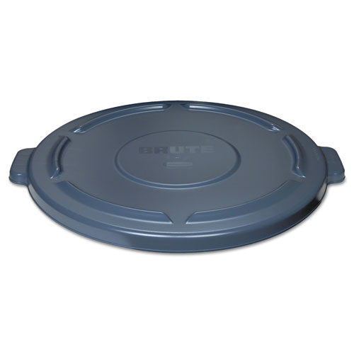 Vented Round BRUTE Lid, 24.5 dia x 1.5h, Gray. Picture 3