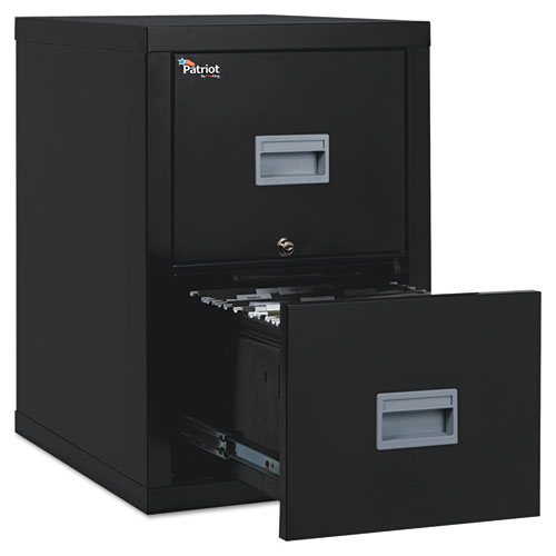 Patriot Insulated Two-Drawer Fire File, 17.75w x 25d x 27.75h, Black. Picture 1