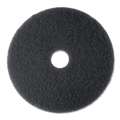 "High Productivity Floor Pad 7300, 17"" Diameter, Black, 5/Carton. Picture 1"