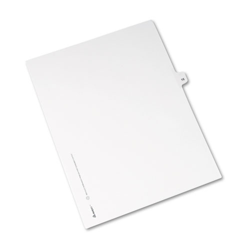 Preprinted Legal Exhibit Side Tab Index Dividers, Avery Style, 10-Tab, 16, 11 x 8.5, White, 25/Pack, (1016). Picture 2