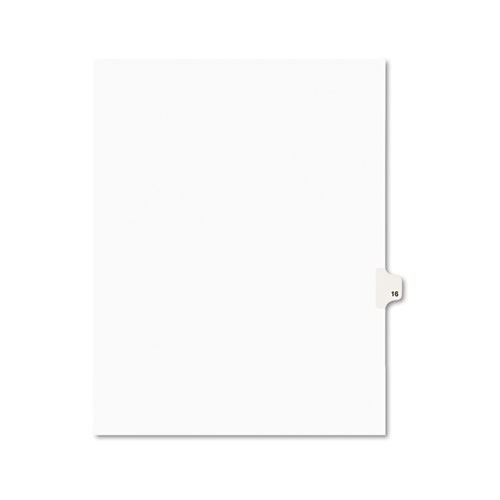 Preprinted Legal Exhibit Side Tab Index Dividers, Avery Style, 10-Tab, 16, 11 x 8.5, White, 25/Pack, (1016). Picture 1