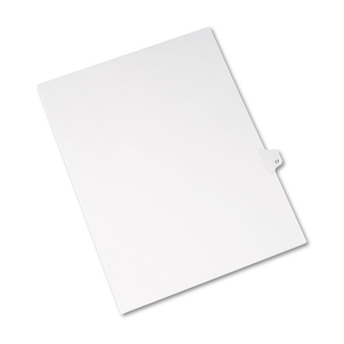Preprinted Legal Exhibit Side Tab Index Dividers, Avery Style, 10-Tab, 17, 11 x 8.5, White, 25/Pack, (1017). Picture 2