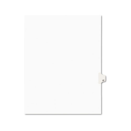 Preprinted Legal Exhibit Side Tab Index Dividers, Avery Style, 10-Tab, 17, 11 x 8.5, White, 25/Pack, (1017). Picture 1