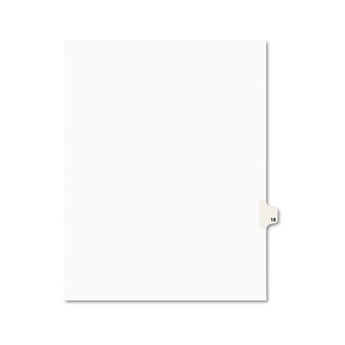 Preprinted Legal Exhibit Side Tab Index Dividers, Avery Style, 10-Tab, 18, 11 x 8.5, White, 25/Pack, (1018). Picture 1