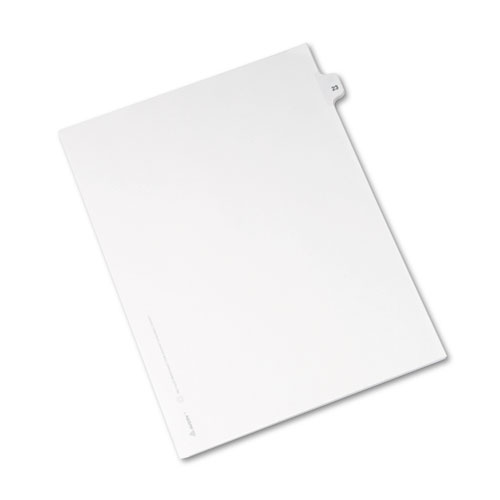 Preprinted Legal Exhibit Side Tab Index Dividers, Avery Style, 10-Tab, 23, 11 x 8.5, White, 25/Pack, (1023). Picture 2