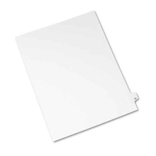 Preprinted Legal Exhibit Side Tab Index Dividers, Avery Style, 10-Tab, 24, 11 x 8.5, White, 25/Pack, (1024). Picture 2