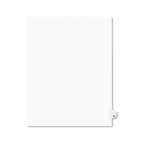 Preprinted Legal Exhibit Side Tab Index Dividers, Avery Style, 10-Tab, 24, 11 x 8.5, White, 25/Pack, (1024). Picture 1