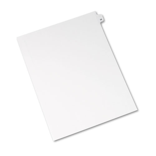 Preprinted Legal Exhibit Side Tab Index Dividers, Avery Style, 10-Tab, 26, 11 x 8.5, White, 25/Pack, (1026). Picture 2