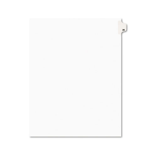 Preprinted Legal Exhibit Side Tab Index Dividers, Avery Style, 10-Tab, 26, 11 x 8.5, White, 25/Pack, (1026). Picture 1