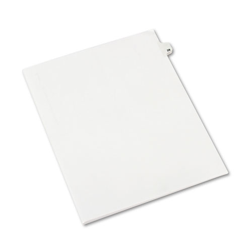 Preprinted Legal Exhibit Side Tab Index Dividers, Avery Style, 10-Tab, 28, 11 x 8.5, White, 25/Pack, (1028). Picture 2