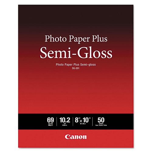 Photo Paper Plus Semi-Gloss, 8 x 10, Semi-Gloss White, 50/Pack. Picture 1