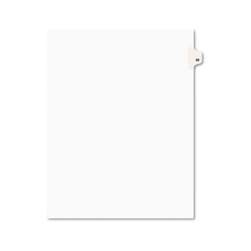 Preprinted Legal Exhibit Side Tab Index Dividers, Avery Style, 10-Tab, 28, 11 x 8.5, White, 25/Pack, (1028). Picture 1