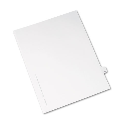 Preprinted Legal Exhibit Side Tab Index Dividers, Avery Style, 10-Tab, 30, 11 x 8.5, White, 25/Pack, (1030). Picture 2