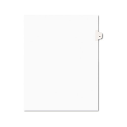Preprinted Legal Exhibit Side Tab Index Dividers, Avery Style, 10-Tab, 30, 11 x 8.5, White, 25/Pack, (1030). Picture 1