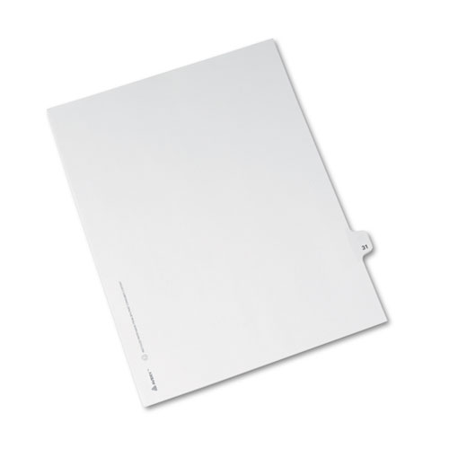 Preprinted Legal Exhibit Side Tab Index Dividers, Avery Style, 10-Tab, 31, 11 x 8.5, White, 25/Pack, (1031). Picture 2