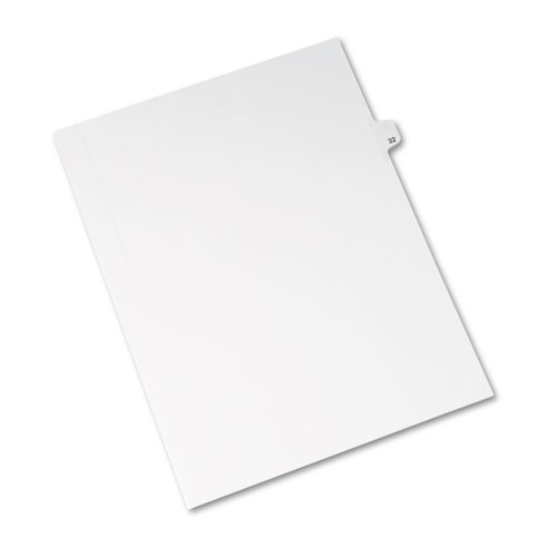 Preprinted Legal Exhibit Side Tab Index Dividers, Avery Style, 10-Tab, 32, 11 x 8.5, White, 25/Pack, (1032). Picture 2